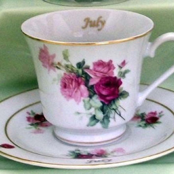 Flower of the Month Teacup - July