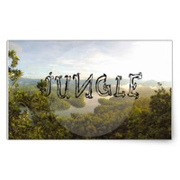 Jungle - wowpeer rectangular sticker