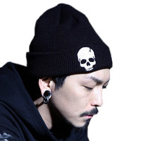 Unisex Acrylic Knit Hat Winter Hats Skull Style & Beanies For Woman And Man 3 Colors