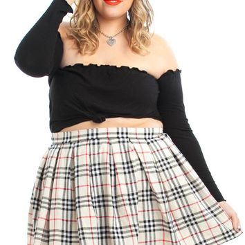Vintage 90's School's Out Plaid Mini Skirt - 2X/3X