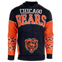 Chicago Bears Forever Collectibles KLEW Big Logo Hooded Sweater Sizes M-XXL w/ Priority Shipping