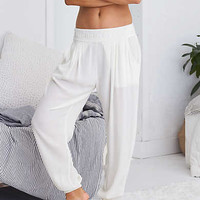 Aerie Embroidered Gauze Jogger , Soft Muslin