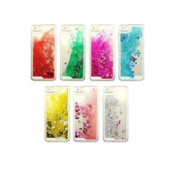 Transparent Fashion Dynamic Liquid Glitter Colorful Paillette Sand Quicksand Back Case Cover For iPhone 5 5S Free Shipping