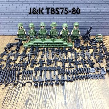 Modern Military Armed Forces SWAT Jungle Maze Mini Building Blocks toys