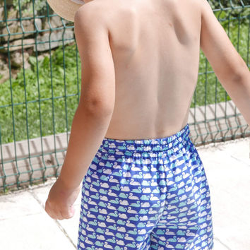 Little Boy Bermuda Shorts: Boys Shorts PDF Pattern,Swim Trunks Pattern,Boys Swim Trunks,Toddler Shorts PDF Pattern,Boys Swimsuit PDF Pattern