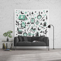 Camp Life Wall Tapestry by Heather Dutton