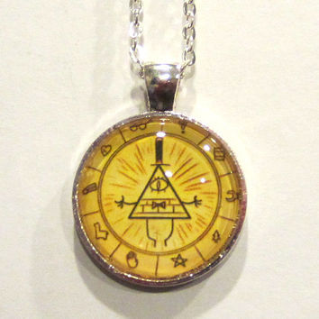 Gravity Falls Pyramid Man Necklace
