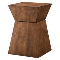 Threshold Accent Table Hourglass Wood