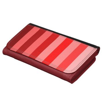 Color Block Stripes Monochrome Shades of Red Wallets