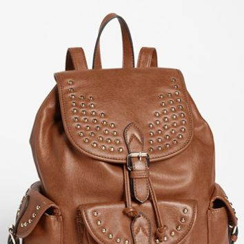 Emperia 'Brandie' Studded Faux Leather Backpack (Juniors) (Online Only) | Nordstrom