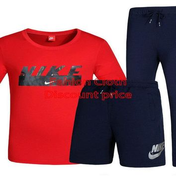 Nike Three-Piece Suit 2018 Spring New Style Clothes L-4XL X-7709 Red Black