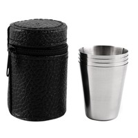Portable Stainless Steel  Shot Glasses (Set of 4)