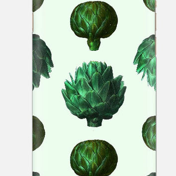 iPhone 6 case, Artichoke iPhone 6 case , Green iPhone case, iPhone 5c case, quirky but cool iPhone case , cellcasebythatsnancy