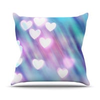 "Beth Engel ""Your Love is Sweet Like Candy"" Heart Throw Pillow"