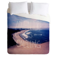 Leah Flores Adventure Is Calling Duvet Cover