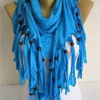Trend Scarf- Blue Scarf-  Shawls-Scarves-gift Ideas For Her Women's Scarves-christmas gift- for her -Fashion accessories