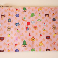 Animal Crossing Zippered Pouch
