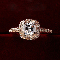 Women Charming Bridal Wedding Engagement Party Shiny Luxury Rhinestone Alloy Ring Jewelry YHS = 1933085508