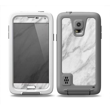 The White Marble Surface Skin Samsung Galaxy S5 frē LifeProof Case