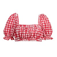 Red Gingham Marcela Top