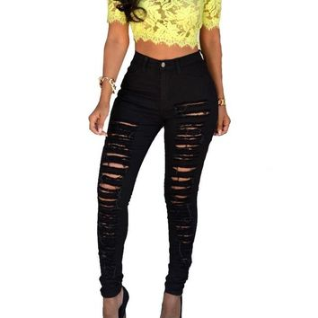 Walker High Waist Skinny Denim Jeans