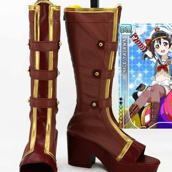 LoveLive! Love Live Nozomi Tojo Navy Sailor Cosplay Boots Costume Shoes