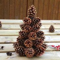Pine cones Christmas tree, woodland Christmas tree, rustic Christmas tree, rustic pine cone tree, woodland Christmas décor, pine cones décor