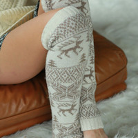 Keep it Cozy Fair Isle Leg Warmers - 4 Colors