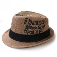 Khaki color black ribbon shading england hat   style zz92600202 in  Indressme
