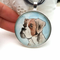Custom made pet portrait art pendant, hand painted from YOUR PHOTO of your pet