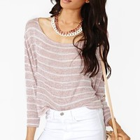Nasty Gal Sweet Side Stripe Knit