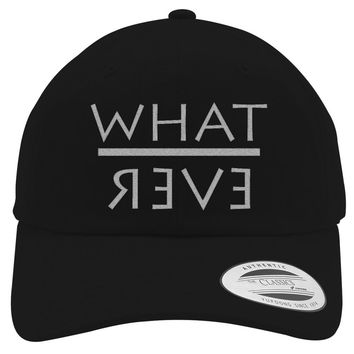 Whatever Embroidered Cotton Twill Hat