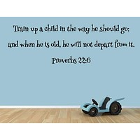 Proverbs 22:6 Bible Verse Wall Decal.