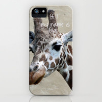 Gigi iPhone Case by Irène Sneddon