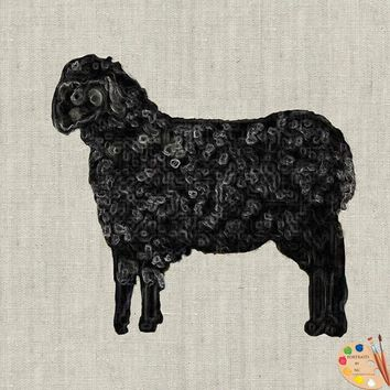 Black Sheep Painting - Fabric Poster Print 291