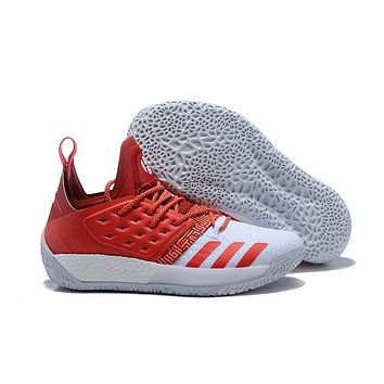 Adidas Harden Vol. 2 White/red Basketball Shoes Us7 11.5