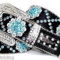 BHW WeStErN CoWgiRL BLaCk TuRqUoiSe BeRrY RhiNeStOnE CoNcHo HaiR On LeAtHeR BeLt