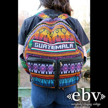 Vintage 90s does 70s Colorful Mexican Hippie Boho Festival Backpack