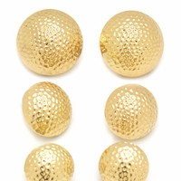Textured-Dome-Earring-Set GOLD SILVER - GoJane.com