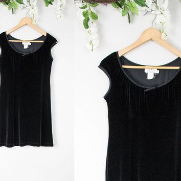 Vintage Velvet Black Babydoll Dress