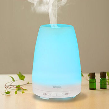 Essential Oil Diffuser, [New Version]Amir 100ml Cool Mist Aroma Humidifier Ultrasonic Aromatherapy Oil Diffuser - Portable for Home, Yoga, Office, Spa, Bedroom, Baby Room, Etc