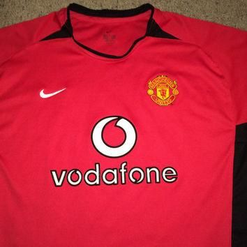 Sale!! Vintage Nike MANCHESTER UNITED Soccer Jersey MUFC Football Shirt