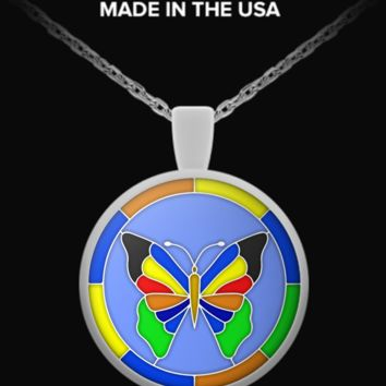 BUTTERFLY Stained Glass Effect - Necklace butterflyeffect-necklace