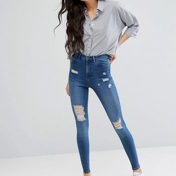 Waven Tall Anika Distressed Skinny Jean at asos.com