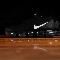 AUGUAU Men's Nike Air VaporMax Flyknit 2 'Triple Black' [942842-001]