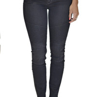 Articles of Society Charcoal Moto Jean