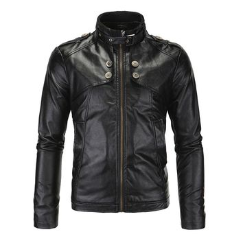Herobiker Motorcycle Jackets Men Vintage Retro PU Leather Jacket Racing Biker Punk Classical Casual Bomber Windproof Moto Jacket