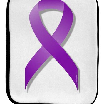 Epilepsy Awareness Ribbon - Purple 9 x 11.5 Tablet  Sleeve by TooLoud