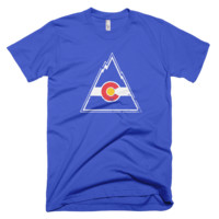 Retro Colorado Rockies Adult Tee Shirt