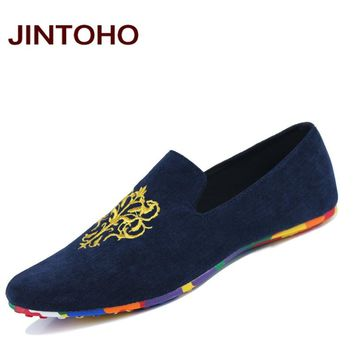 fashion suede men shoes soft leather flat shoes casual slip on moccasins men loafers hight quality driving flats